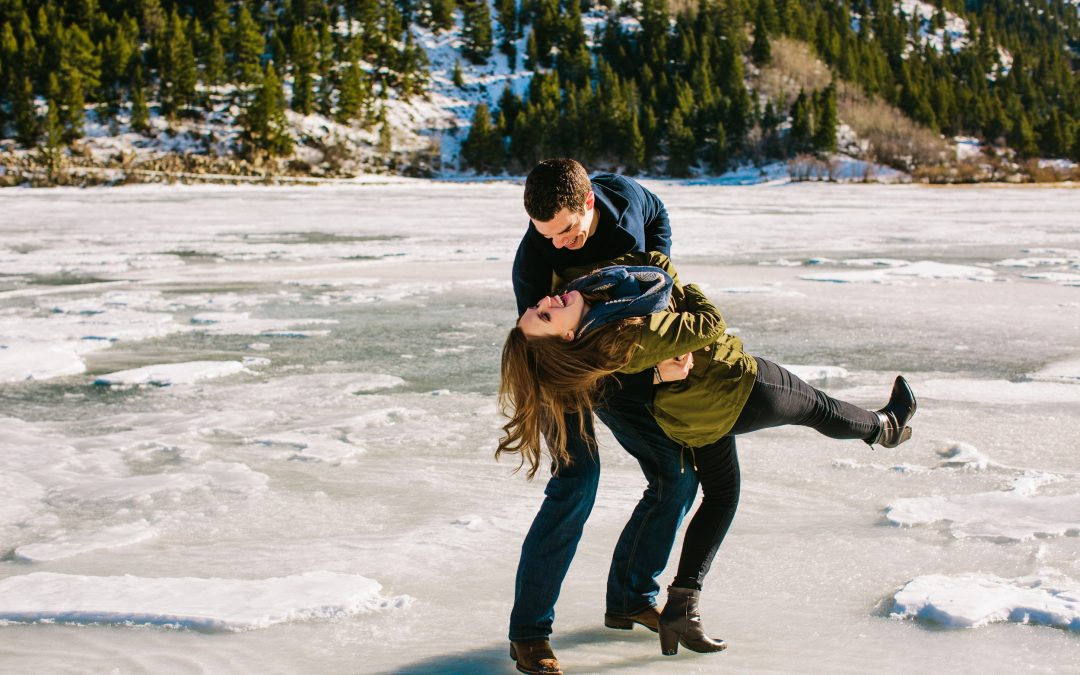 Jason & Micaela Engagement | A Wintery, Mountain Adventure Session
