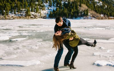 Jason & Micaela Engagement | A Wintery, Mountain Adventure Session